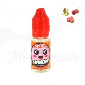 Manga : litchi, fraise bonbon & mangue.Swoke E-liquide